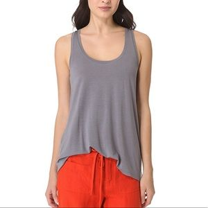 Vince Micro Modal Scoop Tank Top Shadow Gray M0394